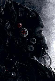 future, cyborg, cyberpunk, mask, helmet, armor, futuristic