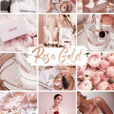 Clean Edit - 5 Mobile Lightroom Presets - La Dolce Vita Gold Mobile, Lightroom Presets For Portraits, Vsco Presets, Professional Photographer, Instagram Feed, Rose Gold, Poses, Free Travel, Gold Style