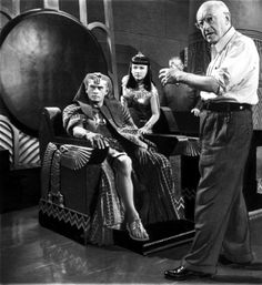 DeMille with Anne Baxter: The Ten Commandments