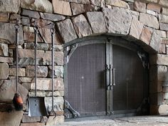 Hand forged fireplace doors is a specialty of Ponderosa Forge.  Contact us today to design a set just for your home.
