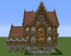 Fantasy Victorian Mansion - GrabCraft - Your number one source for MineCraft buildings, blueprints, tips, ideas, floorplans!