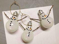 Ninots de neu per a l'arbre de nadal! #homedecor #nadal #winter