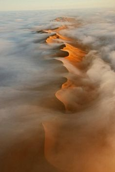 The Wide . Aerial view of Namib Desert dunes . BBC Nature