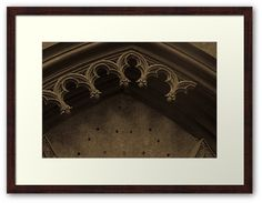 Gothic Arch Framed Print by Anastasia Shemetova #style #building #ruined #retro #old #arch #architecture #gothic #atmosphere #sepia #vintage #ornament #broken #tomb #shrine #petersburg #saint #chapel #vault #antique #medieval #ancient #photo #photography #redbubble