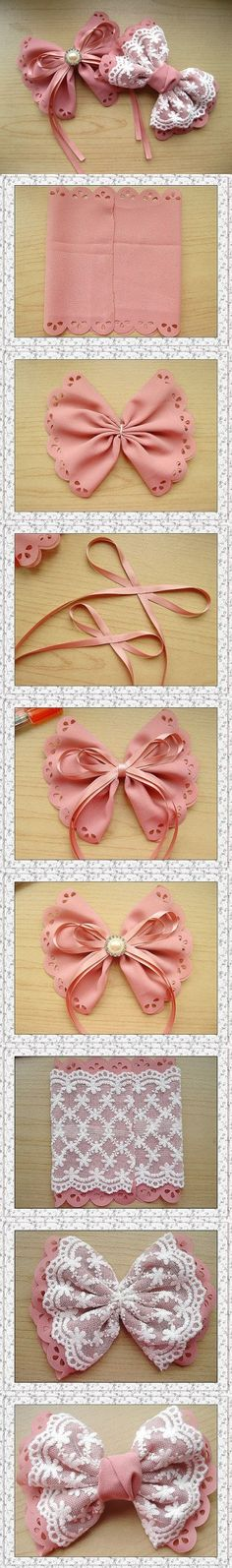 How to make your own lovely bow hairpin step by step DIY...