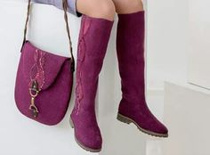 Felted boots & bag