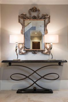 Decorus console table - Interior design by Snowgoose Interiors