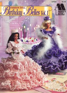 Birthday Belles Vol I for Barbie Fashion Doll Jan - June AA Crochet Pattern | Crafts, Needlecrafts & Yarn, Crocheting & Knitting | eBay!