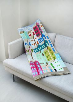 houses quilt!!!! I love this! Just need a house tessellation ?