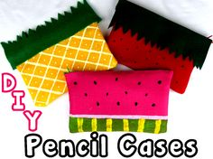 DIY No Sew Pencil Case and Makeup Bag! Find out how to make this cute and fun no sew zipper pencil pouch and/or makeup bag!