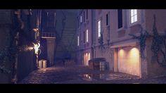 The Alley, Viktor Imanuel on ArtStation at https://www.artstation.com/artwork/oYg6w