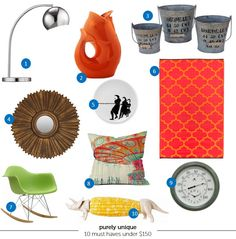 Don't forget the conversation pieces.  Great roundup of finds under $150!