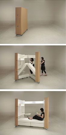 Fold out bed set