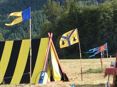 Banners at the Wyewood campsite