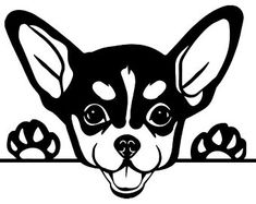 Check out our chihuahua svg selection for the very best in unique or custom, handmade pieces from our shops. Wood Burning Patterns, Wood Burning Art, Animal Drawings, Art Drawings, Dog Stencil, Chihuahua Love, Chihuahua Drawing, Dog Silhouette, Stencil Patterns