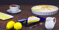 Feather-light foam meets a sweet cream with fresh notes Lemon Coconut, Lemon Meringue Pie, Yummy Cakes, Food And Drink, Pudding, Sweets, Cheese, Baking, Baking Ideas
