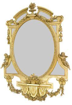 A Napoleon Iii Style Gilt Wood Mirror France, Circa 1900 French Mirror, Ornate Mirror, Vintage Mirrors, Wood Mirror, Mirror Mirror, Decorative Mirrors, Antique Frames, I Love Mirrors, Beautiful Mirrors