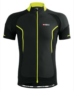 INSIDIA highly technical cycling road jersey by BL Bicycle Line (black / yellow fluor)