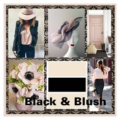 """""""Black & Blush"""" by art-gives-me-life ❤ liked on Polyvore featuring art and ColorCrush"""