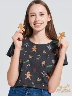 SINSAY - CHRISTMAS T-shirt <br><br>Wzrost modelki: 176 cm<br>Rozmiar produktu: S