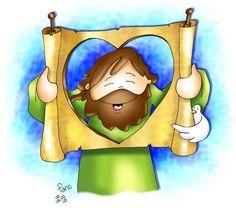 Jesús es la Palabra de Dios que se cumple | El Blog de Alfredo Jesus Cartoon, Bible Stories, Fabric Art, Christian Quotes, Cute Art, Jesus Christ, Smurfs, Humor, Fictional Characters