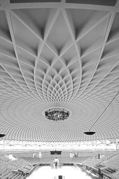 Best Ideas For Architecture and Modern Design : – Picture : – Description Sports Hall, Pier Luigi Nervi, Rome – Italy, New Architecture, Architecture Details, Architecture Diagrams, Architecture Portfolio, Parametrisches Design, Modern Design, Ceiling Detail, Parametric Design, False Ceiling Design
