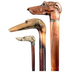 Collection of Dog Head Walking Sticks