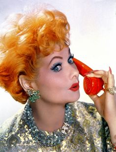 Lucy was made for technicolor — with Lucille Ball. I Love Lucy Show, My Love, Vintage Hollywood, Classic Hollywood, Divas, Lucille Ball Desi Arnaz, Lucy And Ricky, Hollywood Stars, Hollywood Icons