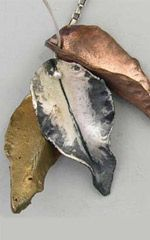 Free Jewelry Making Instructions for  Metal Clay Leaves by Hadar Jacobson