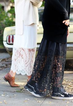 DIY Lace Layering Skirt