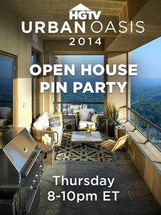 Pinterest Party!  You're Invited: HGTV Urban Oasis 2014 Pinterest Party « HGTV Dreams Happen: Sweepstakes Blog