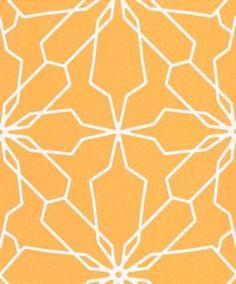 Bright orange wallpaper in large graphic design