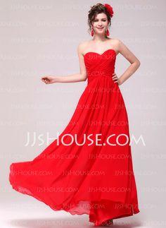 Evening Dresses - $132.19 - A-Line/Princess Sweetheart Floor-Length Chiffon Evening Dress With Ruffle (017014006) http://jjshouse.com/A-Line-Princess-Sweetheart-Floor-Length-Chiffon-Evening-Dress-With-Ruffle-017014006-g14006