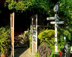 Entrance to Akha Ama #Cafe - one of our favorites in #ChiangMai #Thailand