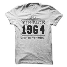 VINTAGE 1964 Aged To Perfection Birthday T Shirts, Hoodies. Get it here ==► https://www.sunfrog.com/Birth-Years/VINTAGE-1964-Aged-To-Perfection-Birthday.html?57074 $19