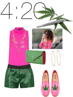 """""""4:20. I do not condone this type of behavior but cute shoes."""" by shoppergurl09 ❤ liked on Polyvore"""