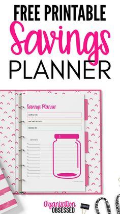 Money Planner, Savings Planner, Budget Planner, Savings Goal, Planner Book, Planner Ideas, Happy Planner, Printable Planner, Free Printables