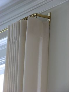 Hardware - Gretchen Everett Custom Drapery, Hardware, and Furnishings Bedroom Curtains With Blinds, Home Curtains, Custom Drapes, Interior Windows, Bathroom Window Curtains, Bathroom Windows, Curtains Bedroom, Curtains, Custom Drapery