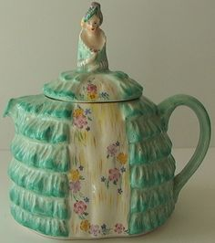 Vintage English Chintz Crinoline Lady Tea Pot Southern Belle Half Doll A | eBay