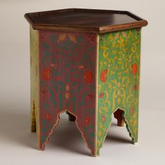 Multicolor Lena Moroccan Table | World Market @Amy Buckley