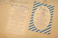Detail To Love: Menu with a Twist!