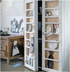 great idea for the doors of the cupboard