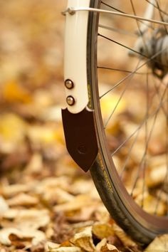 Leather Bicycle Mud Flap from Walnut Studiolo