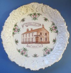 Huddersfield Lepton Field Cooperative Society 1910 Jubilee Commemorative Plate Decorative Plates, Ebay