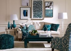 Ideas For Living Room Furniture. Image result for how to transition open floor plan colors from turquoise  navy What TypeFamily RoomBlue Living Room FurnitureLiving IdeasLiving Love the and patterns everything about this but I