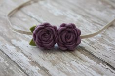 Baby Felt Flower Headband   Pair of Wool by SnuggleBugsBowtique, $5.90