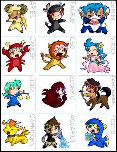 anime zodiac! ♥
