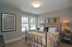 Camo Comforter Set Bedroom Transitional with Artwork Bedding Bedframe Beige Carpet Black Pillow Brass Bed Carpeting Ceiling Mounted