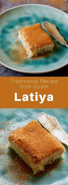 Latiya (or natiya) is a popular dessert from Guam prepared with vanilla pastry cream sprinkled with cinnamon and a sponge cake base. Guam Recipes, Kabasa Recipes, Sweet Recipes, Dessert Recipes, Cooking Recipes, Homemade Desserts, Delicious Desserts, Yummy Food, Chamorro Recipes