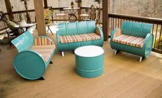 Metal Craft Diy Oil Drum Furniture Ideas Patio Furniture Ideas Benches